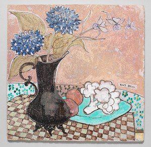 Rut Bryk, Asetelma (ruiskaunokki ja kukkakaali), n. 1948.