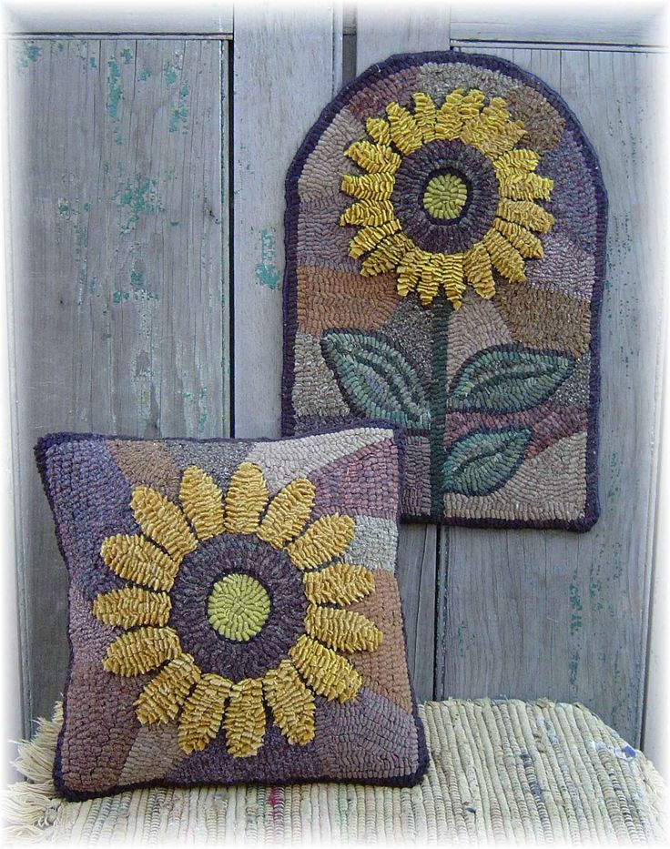 Stained Glass Sunflower Hooked Rug Rug Hooking Patterns