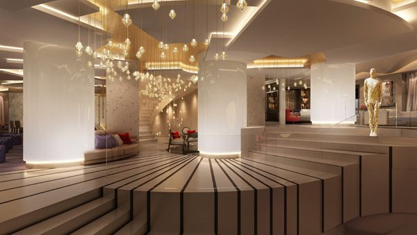 Industrial style lobby boutique hotel lobby design Small hotel lobby