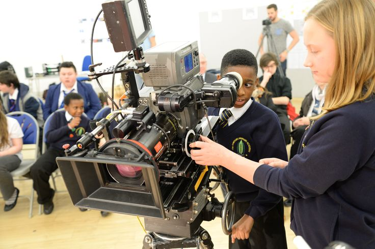 Young people enjoying our InTo Film workshop in association with the BFI.