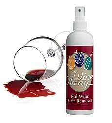 how to clean wine stains off clothes