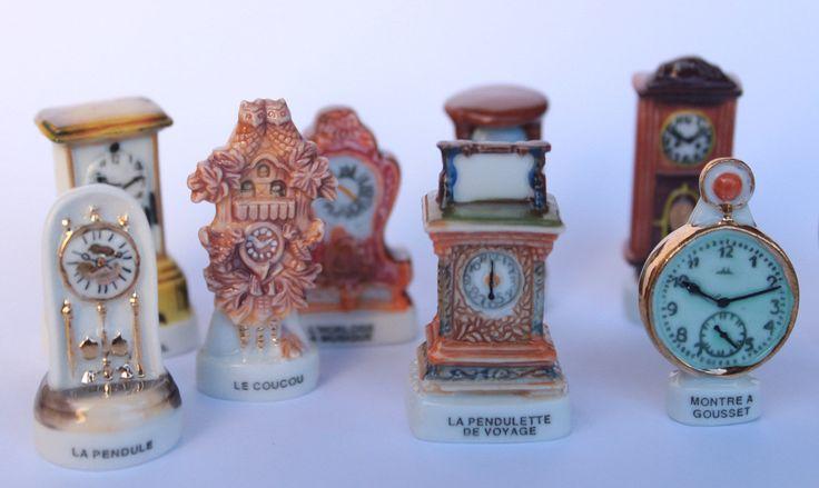 """Feves """"Horloges""""- Fèves des gâteaux de Rois- 11 figurines- Haute gamme- Peint à la main- Miniatures de collection- Fabophilie de la boutique SouvenirFrancais sur Etsy"""