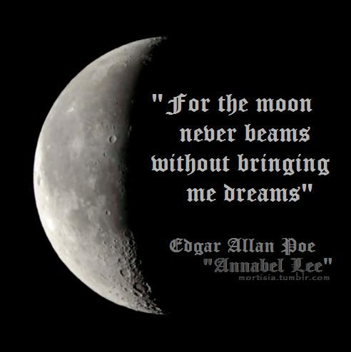 Poe~: Quotes, Edgar Allan Poe, Annabel Lee, Beautiful, Edgar Allen Poe, Poem, Edgarallanpoe, Sweet Dreams, The Moon