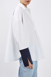 Contrast Oversized Shirt By Boutique