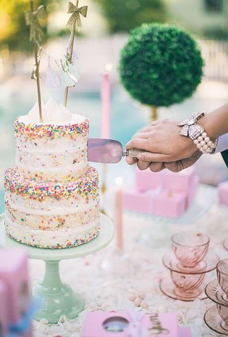 Sprinkle Wedding Cakes : Brides.com
