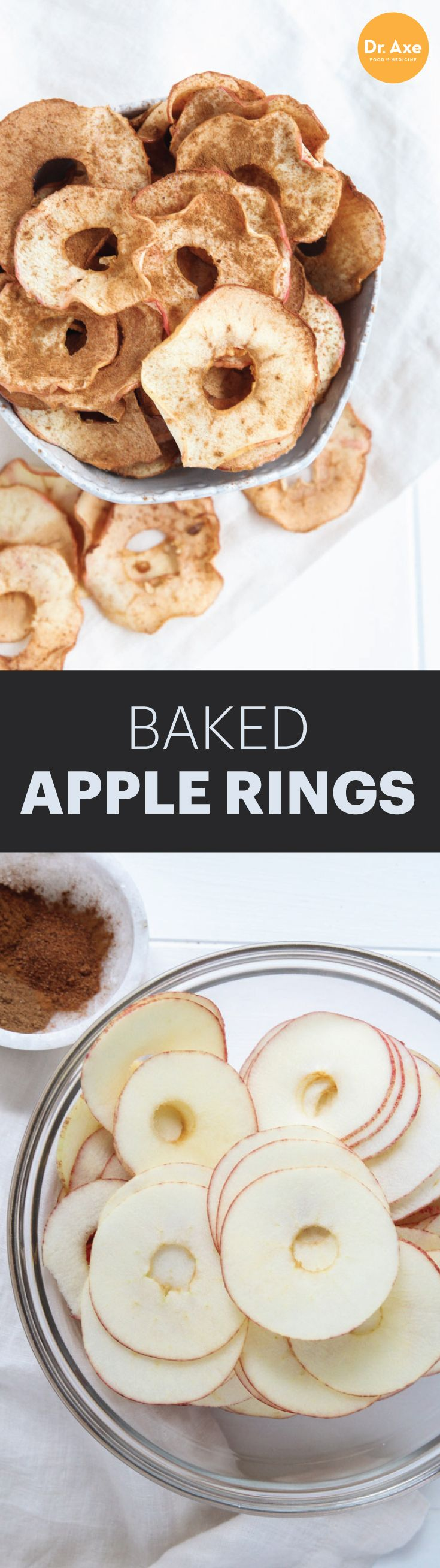 Baked Apple Rings make a great healthy snack!