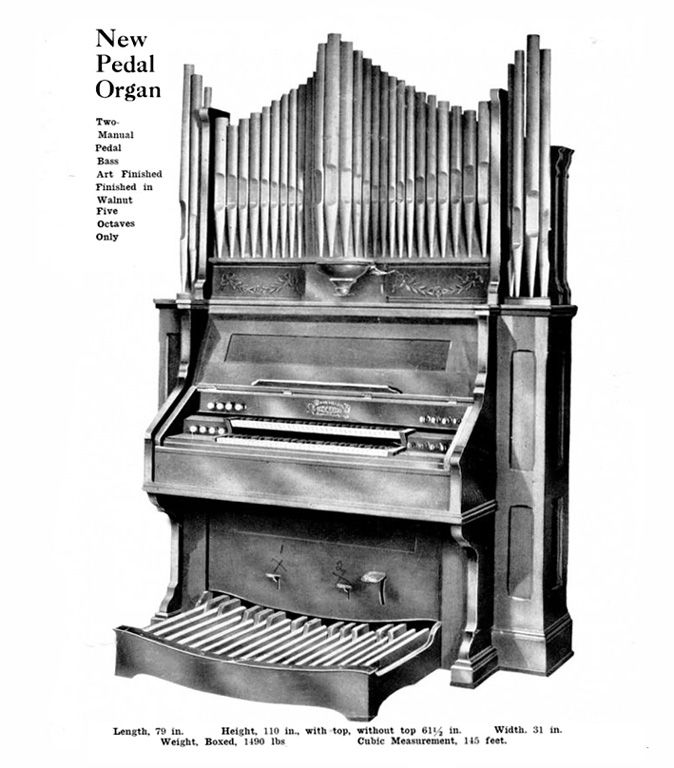 Dominion - 2MP Reed Organ with Pipe Top