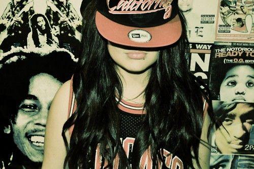Hip hop girl hair