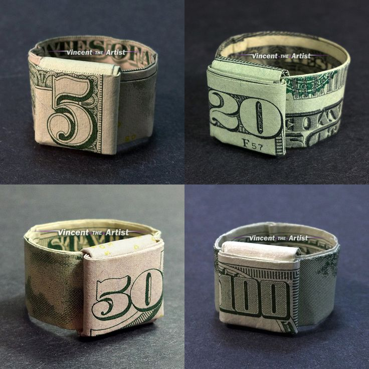 Money Origami Rings