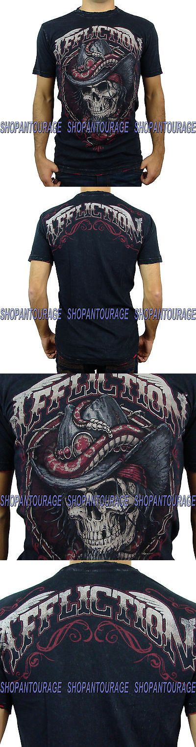 clothing and accessories: Affliction Black Tooth A11745 New Men`S Black T-Shirt -> BUY IT NOW ONLY: $49.95 on eBay!