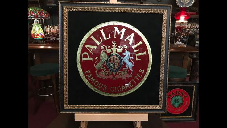 Pall Mall Reverse Glass Sign FOR SALE $399
