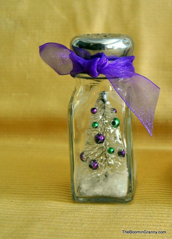 Gathering of the Greens craft salt shaker snow globe ~ would be an easy DIY project ~