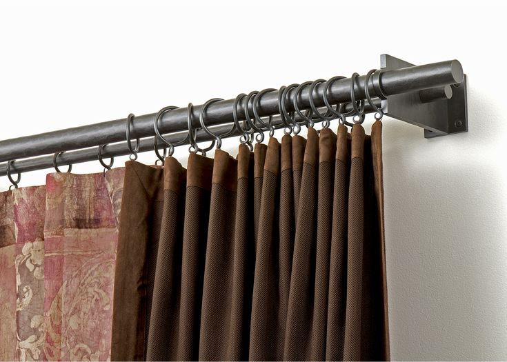 Nice Double Curtain Rod For The Home Curtains Double