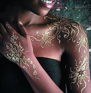 Gold henna mehndi wedding shaadi bride