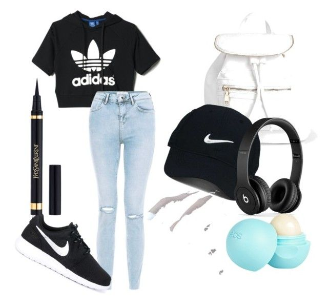 """""""Sport outfit ;)"""" by yangui-sarra on Polyvore featuring mode, adidas, NIKE, Boohoo, Nike Golf, Beats by Dr. Dre et River Island"""