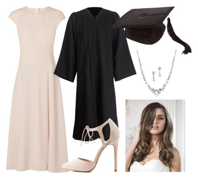 """graduation"" by ksasya on Polyvore featuring L.K.Bennett, Charlotte Russe, nude, 2016 and graduationdaydress"