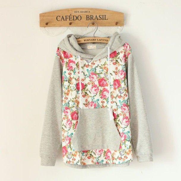 sweater floral tank top hoodie floral hoodie floral sweatshirt bernard lafond sweatshirt