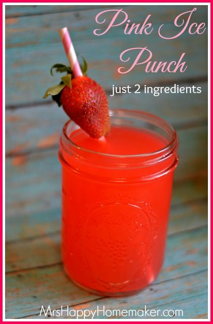 Pink Ice Punch - Just 2 Ingredients