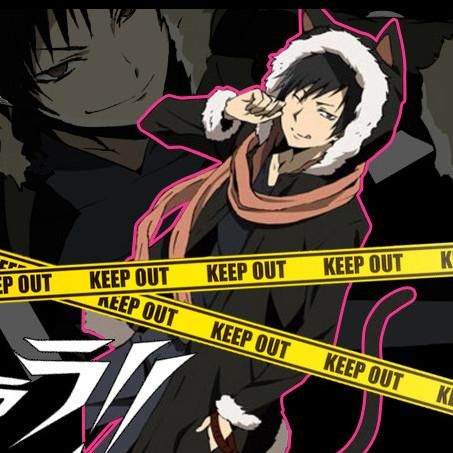 Anime Izaya Orihara Durarara Woolen Hooded Ears Long Coat SD01896