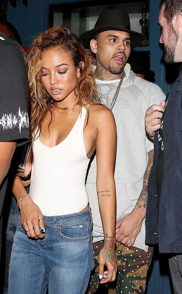 """Chris Brown & Karrueche Tran Break Up Again? He Says He's Single, She Says, """"I Refuse to be Repeatedly Mistreated""""  Chris Brown, Karrueche Tran"""