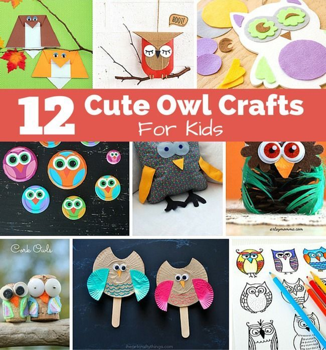 12 Of The Cutest Owl Crafts for Kids. Fall craft activities.