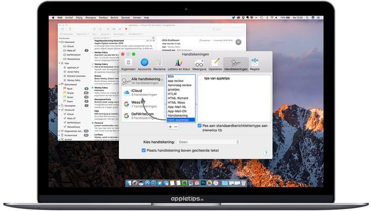 Handtekeningen in macOS (OS X) Mail