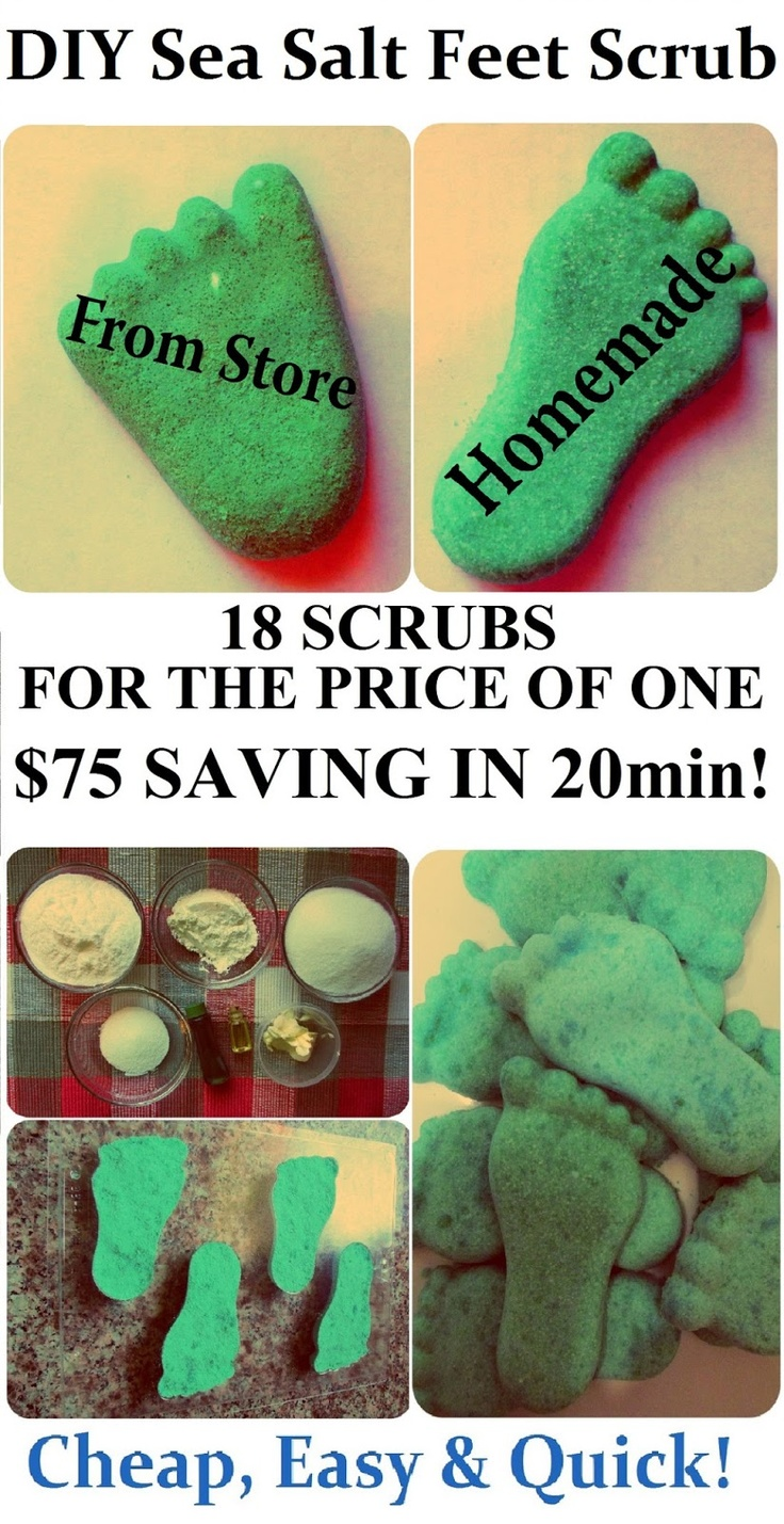 * Maria's Self *: DIY Feet Scrub Recipe, How to Make SPA Products CHEAP, EASY & QUICK! (Homemade Gift Idea for Saint Valentine's Day, Birthday, Mother's Day or Christmas)