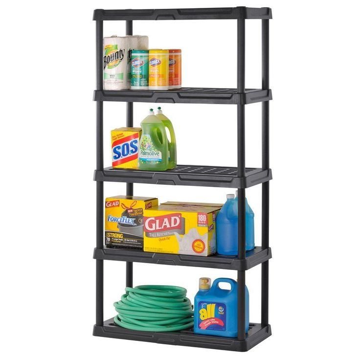 1000 ideas about plastic shelves on pinterest display shelves shelf makeover and storage racks. Black Bedroom Furniture Sets. Home Design Ideas