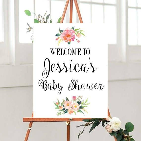 Baby Shower Sign Printable Baby Shower Customized Baby