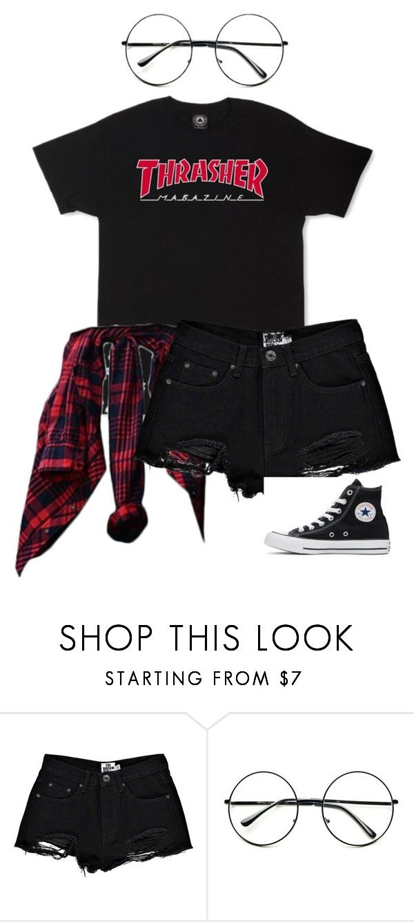 """""""My style pt. 5"""" by ifrancesconi on Polyvore featuring Boohoo, Retrò and Converse"""