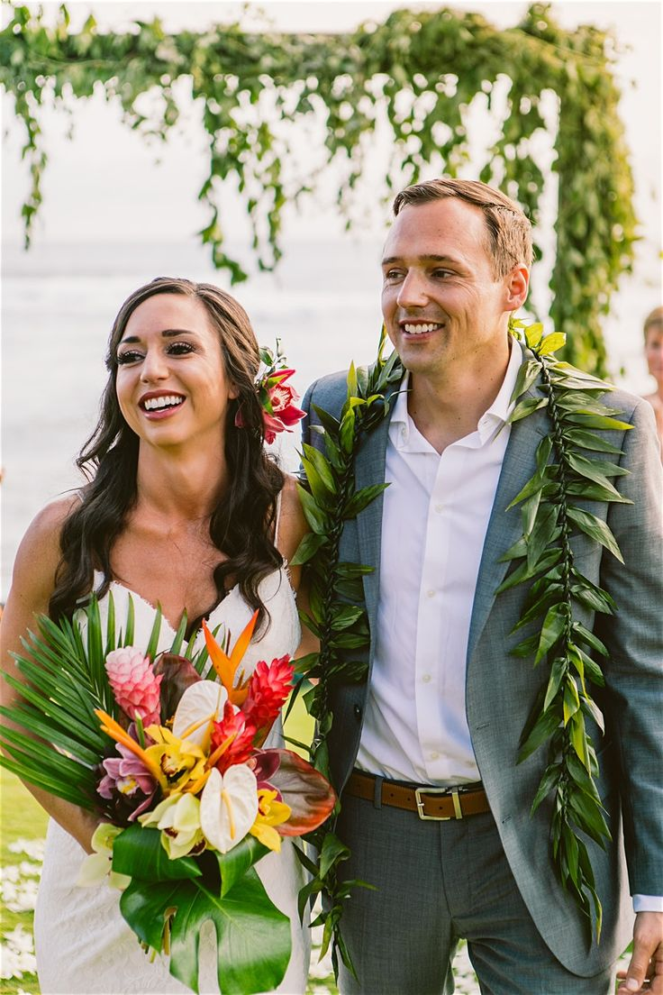 It's not a Hawaiian Wedding without the Maile …
