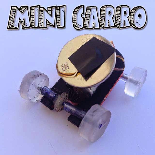 Mini Carro Eléctrico Casero con una Pila de Reloj
