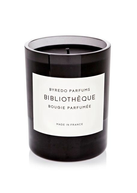 a candle that smells like a library