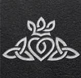 Marriage based on Love, Loyalty & Faith... Celtic Symbol ~ the heart stands for love, the crown for loyalty & the triqueta stands for the Father, Son &Holy Ghost.