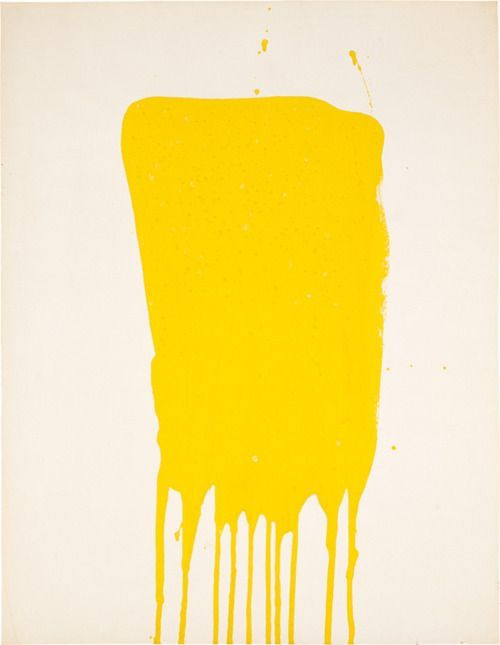 Monochrome jaune sans titre - Yves Klein 1957