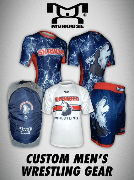 MyHOUSE is the one stop shop for your custom men wrestling gear and team gear needs. Everything from custom team singlets, fight shorts, warm-ups, quarter zips, youth gear, women's gear, and much more Customize #Wrestling Gear.