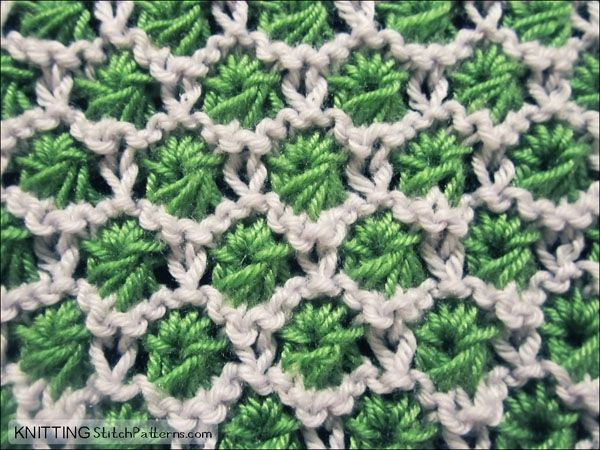 The Aster stitch is quick to knit and isn't too tricky for beginners. This slip- stitch pattern is great for mixing up colors for baby sweaters, scarves and hats.