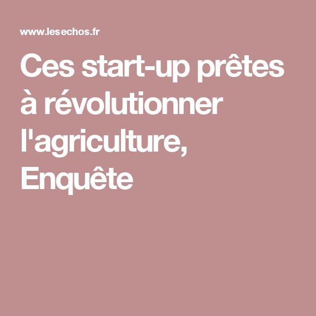 Ces start-up prêtes à révolutionner l'agriculture, Enquête