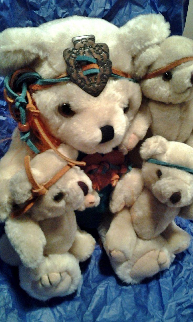 Toys Kids Artisan Storyteller bears Jointed Native American Southwestern babies http://www.bonanza.com/listings/132608505 @Kybunker