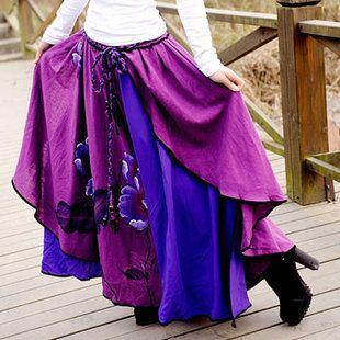 2013 марочный красочные белья& хлопка мягкие ткани, лодыёки длина женские юбки, модный бренд картины юбки,