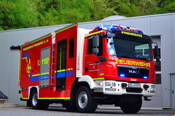 Neues LF20-L der Feuerwehr Freiberg am Neckar auf Basis eines MAN TGM und Aufbau durch die Firma Lentner