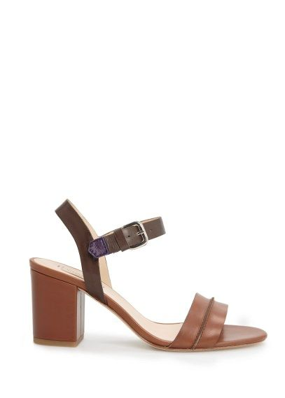 Sandalia piel tacón