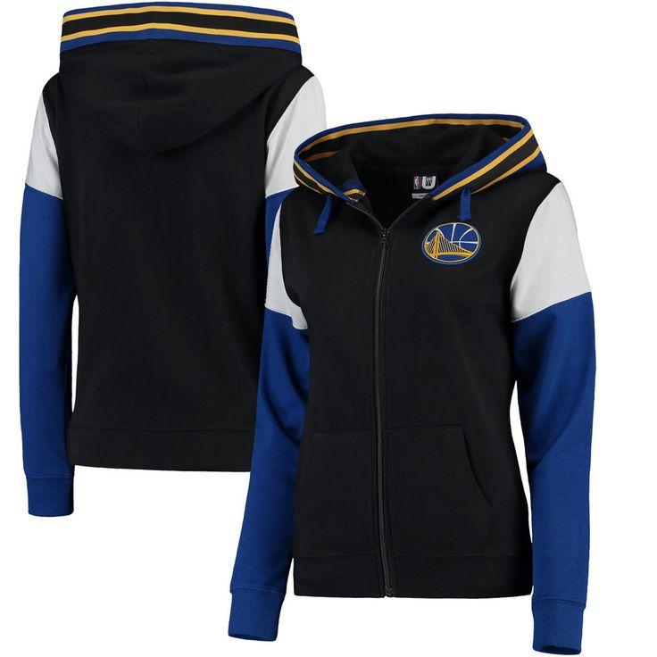 Women's Golden State Warriors UNK Black Alley Oop Full-Zip Hoodie $65