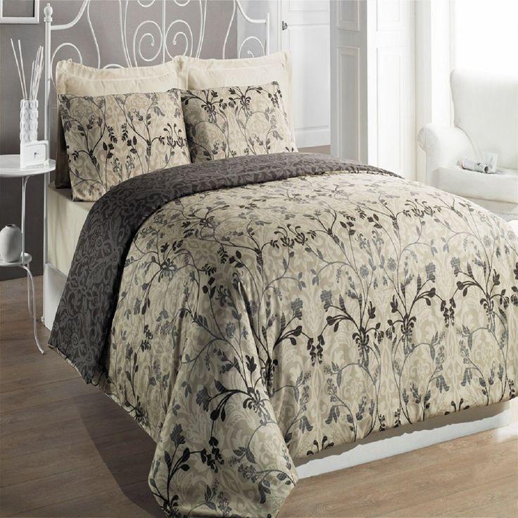 hurrem beige 6 piece duvet cover set modern duvet covers - Modern Duvet Covers