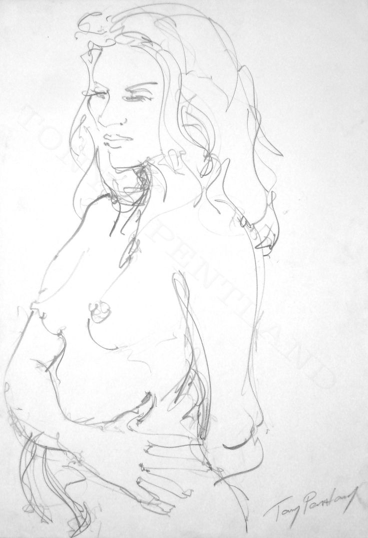 Tony G Pentland                                               3 minute Life Drawing                            Graphite on cartridge