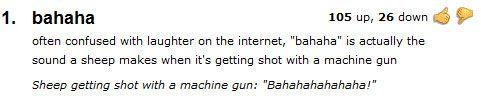 Definition of 'bahaha'