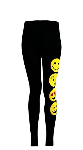 From 3.49 Aelstores Girls Leggings Emoji Emoticons Smiley Faces Stretchy Pants Bottoms Kids Age New 7 9 11 13 Years