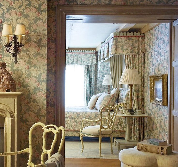 Beautiful Bedroom Sitting Areas: Swathed Is Countless Yards Of Luxurious Printed Linen, A