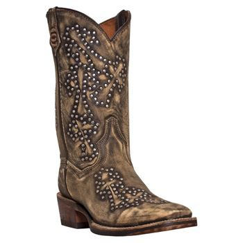 Dan Post Women's Studded Cross Cowboy Certified Boots