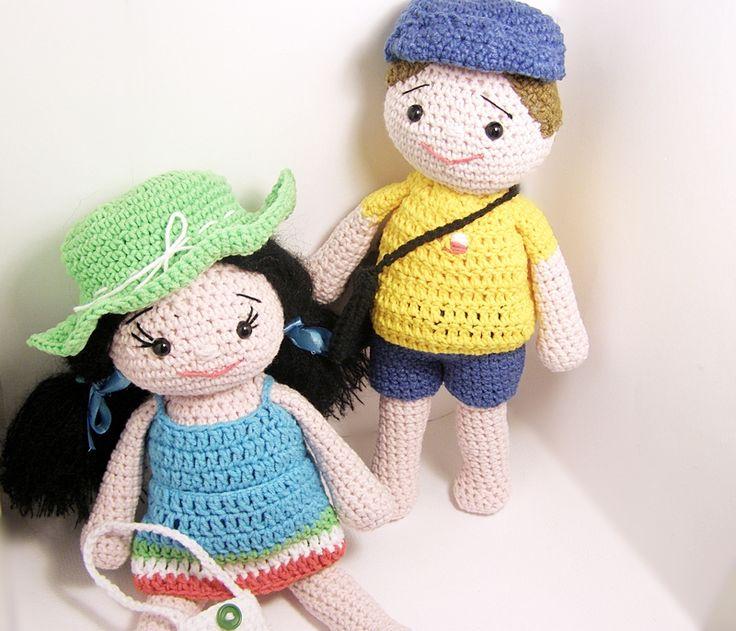 szydełkowe lalki, szydełkowa lalka, crochet dolls